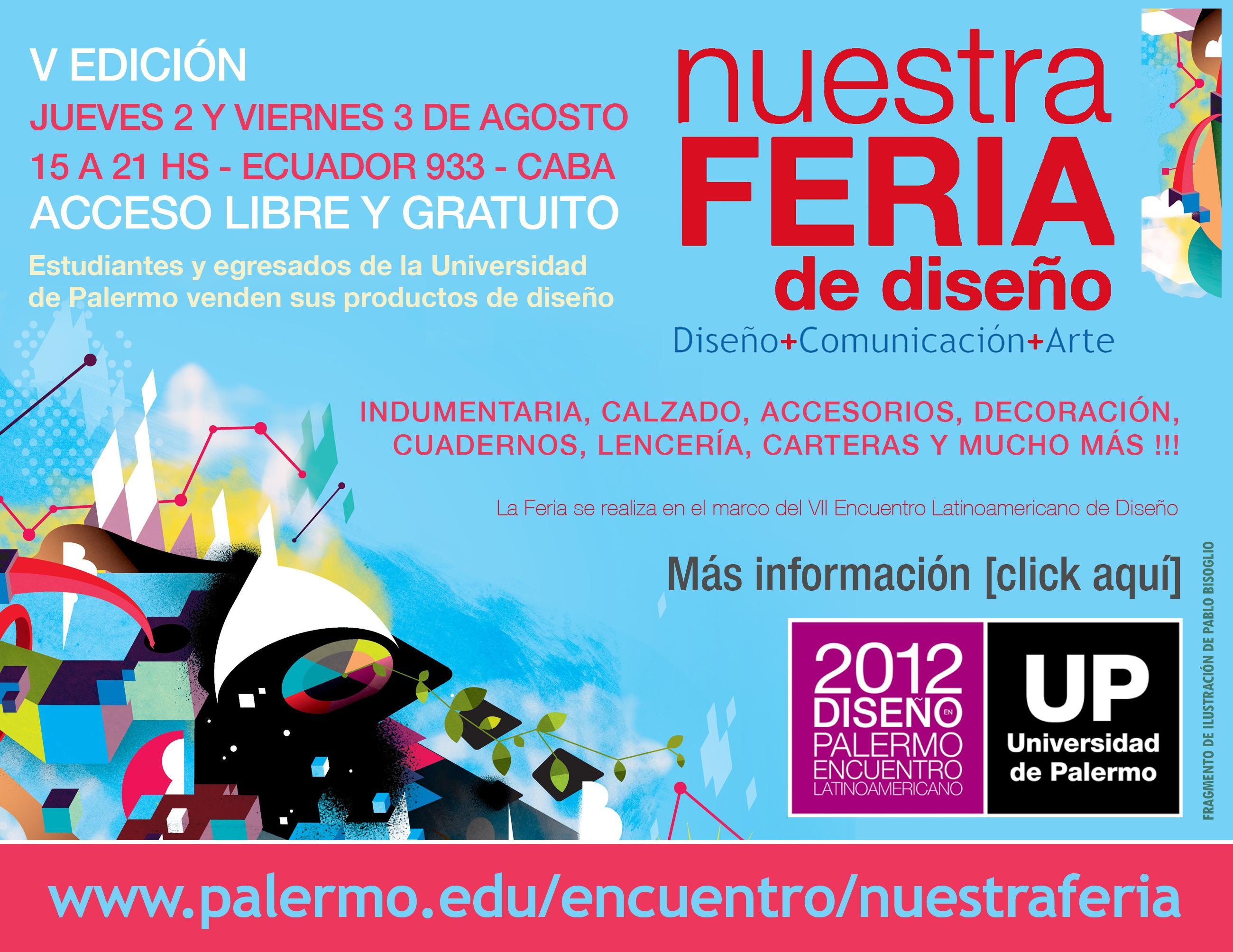 Vení a Nuestra Feria de Diseño - V Edición - Jueves 2 y Viernes 3 de Agosto